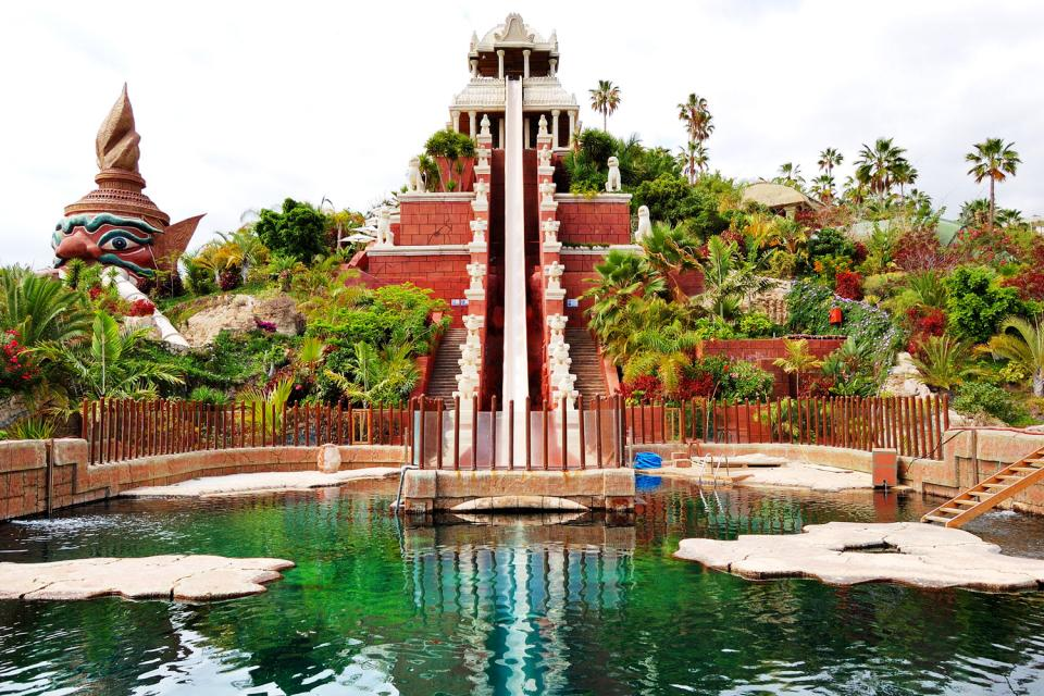 Siam park , The largest water park in Europe , Spain