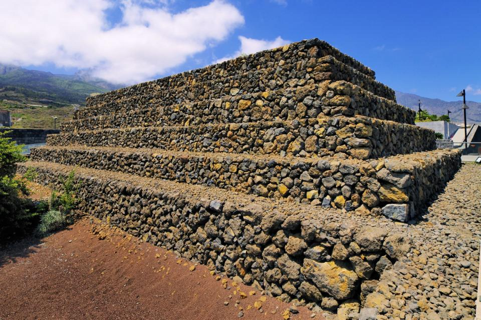 The Pyramids of Güímar , You can see the pyramids from afar. , Spain