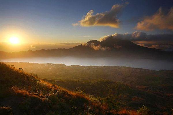 Lacs , Le lac Batur , Indonésie