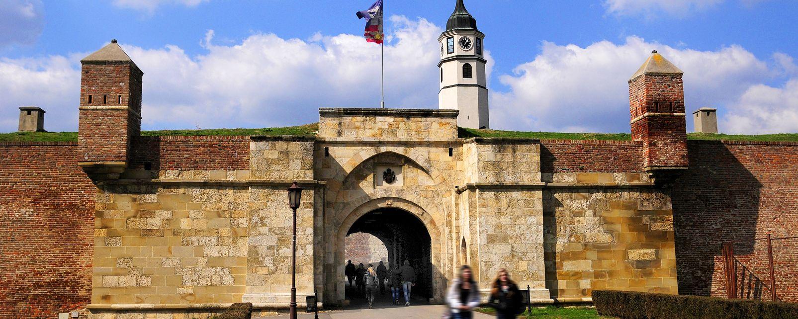 La fortezza di Belgrado , Ingresso della fortezza di Belgrado , Serbia