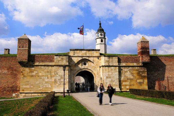 The Belgrade Fortress , The entrance to Belgrade Fortress , Serbia