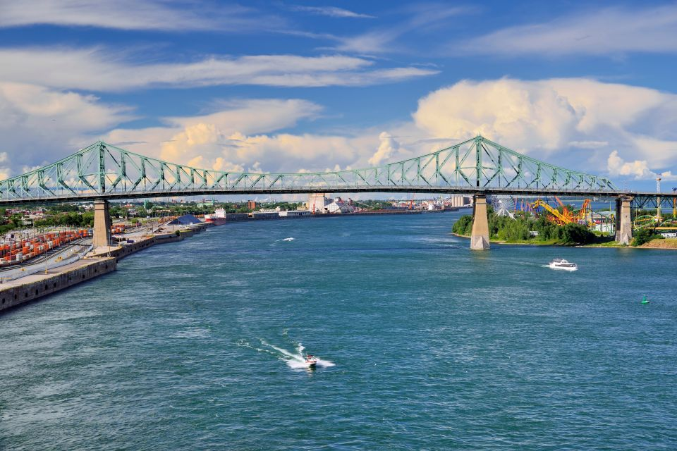The Saint Lawrence River , The Jacques Cartier Bridge, Canada , Canada