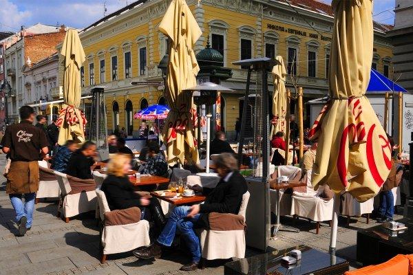 The pedestrian Knez Mihailova ('Prince Michael') street , Ulica Knez Mihailova pedestrian street , Serbia