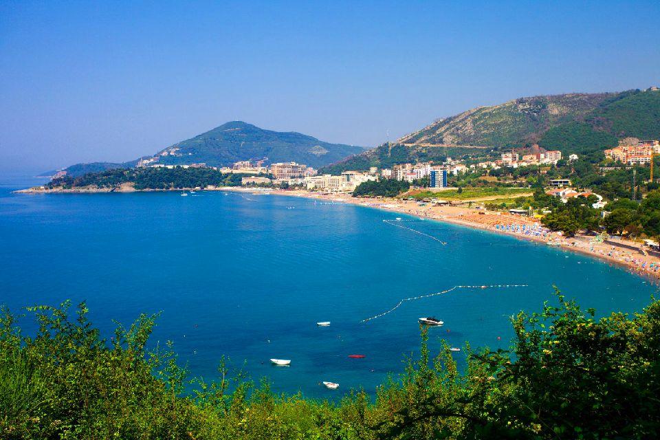 Becici , Der Strand von Becici , Montenegro