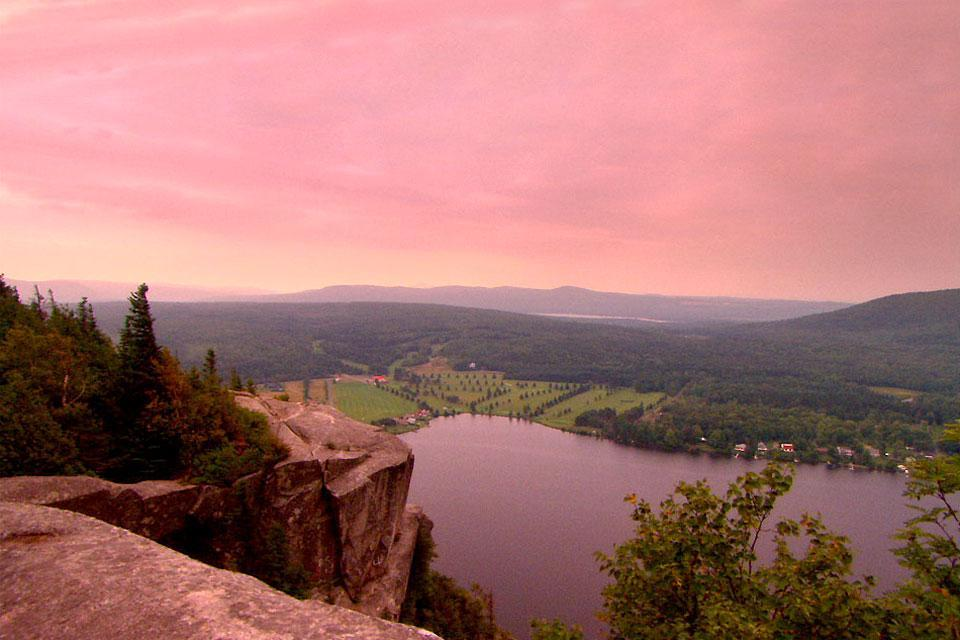 The Eastern Townships , A view of the Quebec townships , Canada
