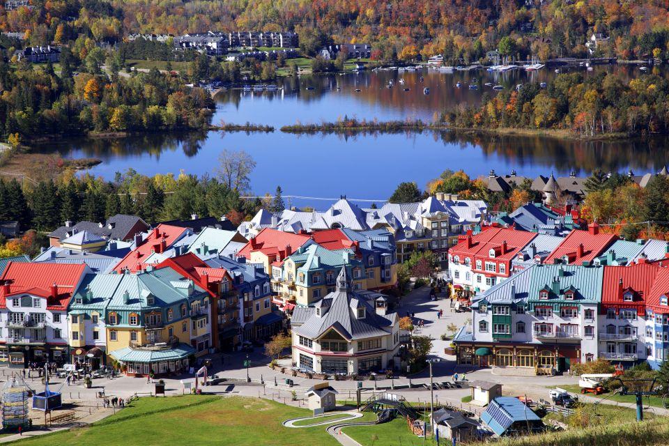 The picturesque city centre of Laurentides, The Laurentides, Landscapes, Montreal, Quebec