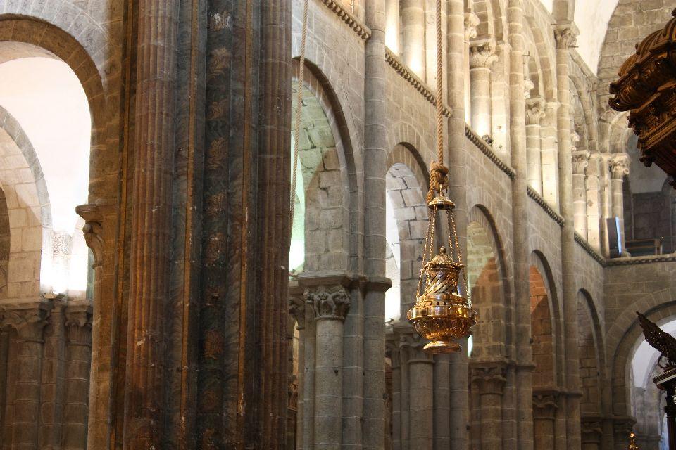 La Cathédrale de Saint-Jacques de Compostelle. , Espagne