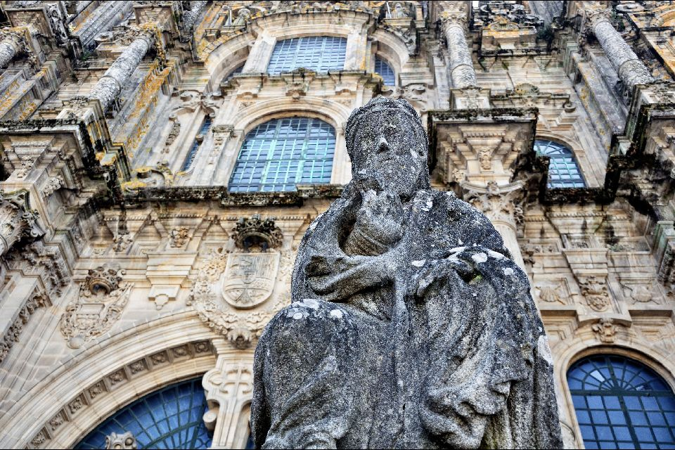 La Catedral de Santiago de Compostela , Spanien
