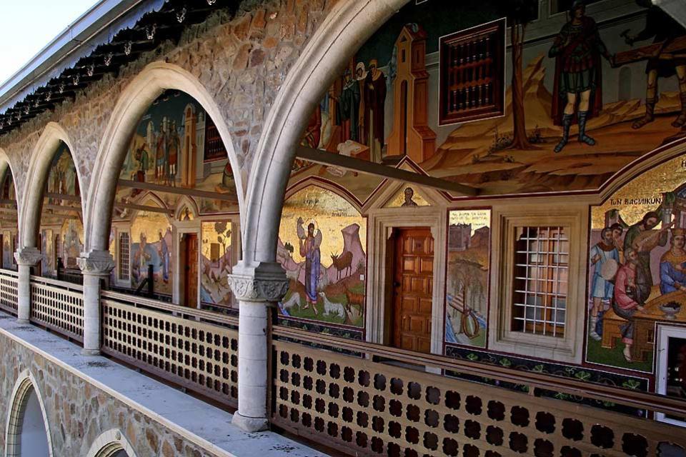 Le monastère de Kykkos , Frescoes at the Monastery of Kykkos , Cyprus