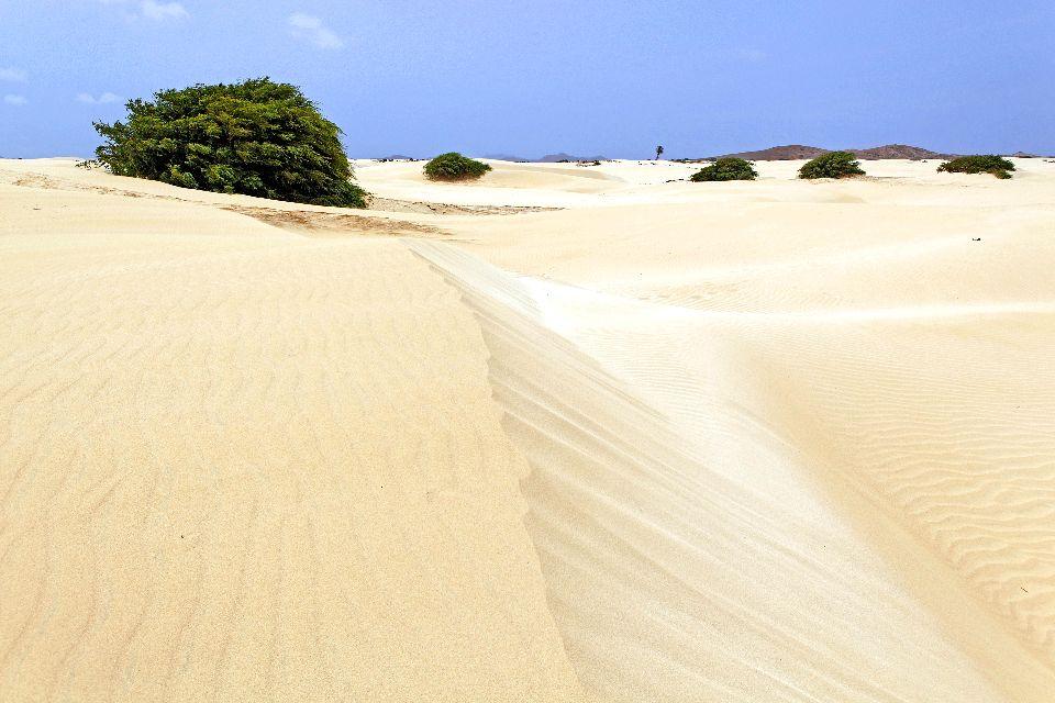 Die Dünen von Boa Vista , Die weißen Dünen von Viana , Kap Verde