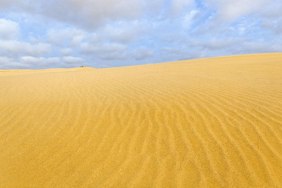 Die Dünen von Boa Vista , Dünen direkt vor den Hotels , Kap Verde