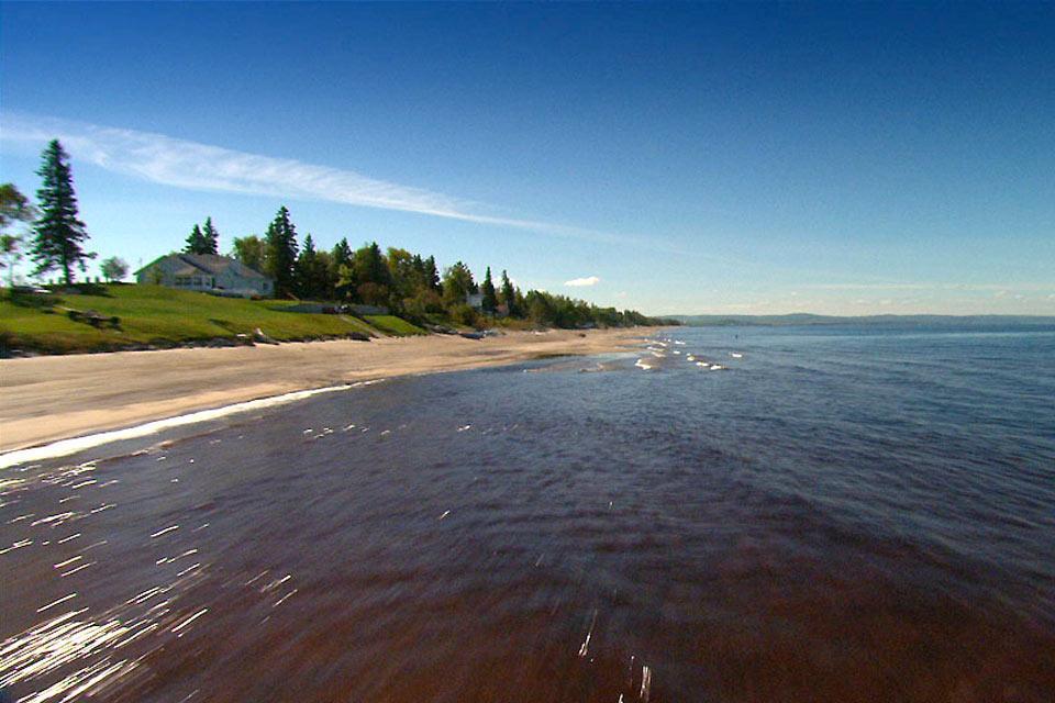 The Saguenay , The beaches of Saguenay , Canada