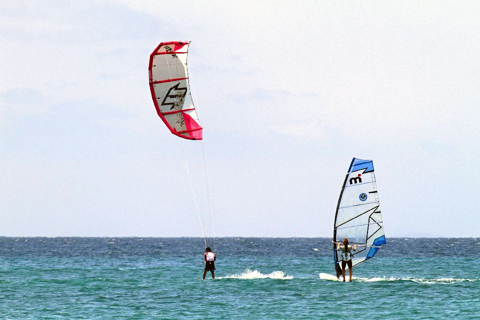 Sports and excursions , Windsurfing at Santa Maria , Cape Verde