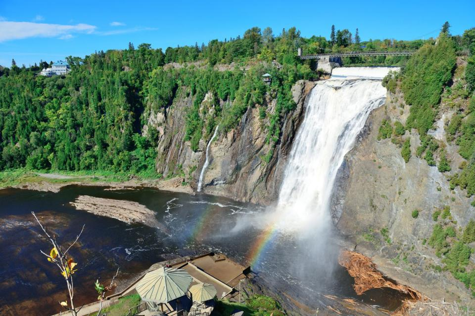 The Montmorency River , The Montmorency Falls, Canada , Canada