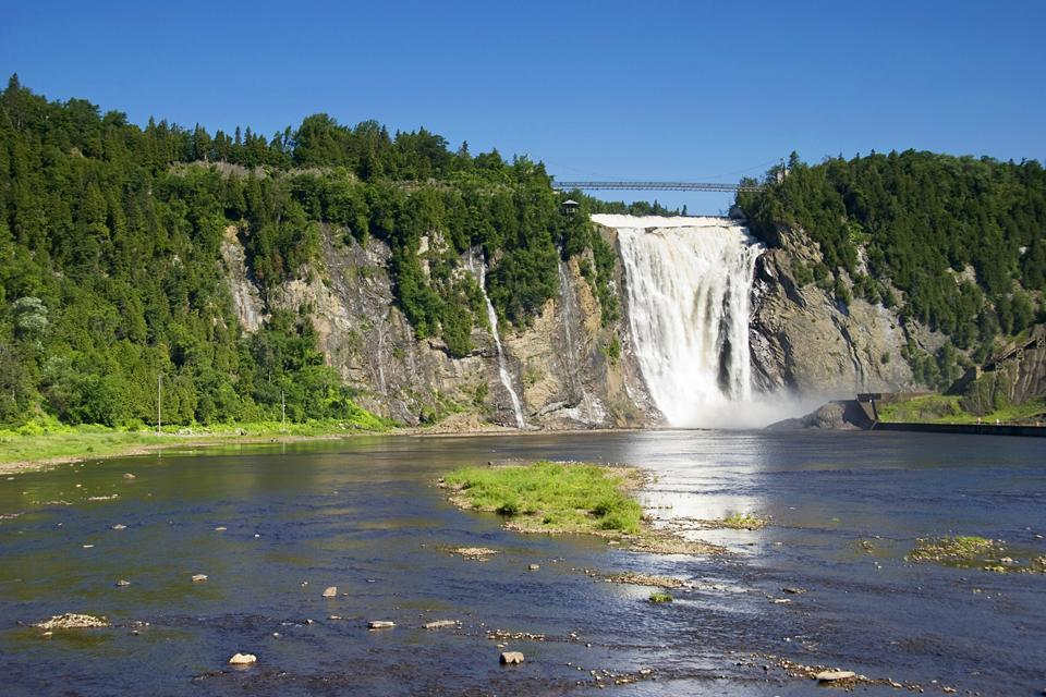 The Montmorency River , Visiting the Montmorency River , Canada