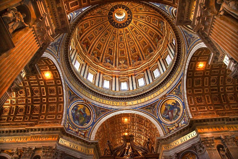 San Pietro , Roma , Cupola di Michelangelo a San Pietro , Italia