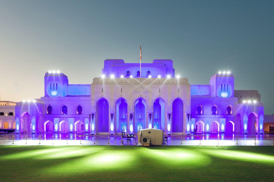 La impresionante fachada de la ópera, Le Royal Opera House Muscat, Arte y cultura, Sultanato de Omán