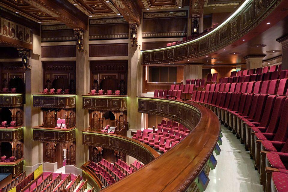 La ópera por la noche, Le Royal Opera House Muscat, Arte y cultura, Sultanato de Omán