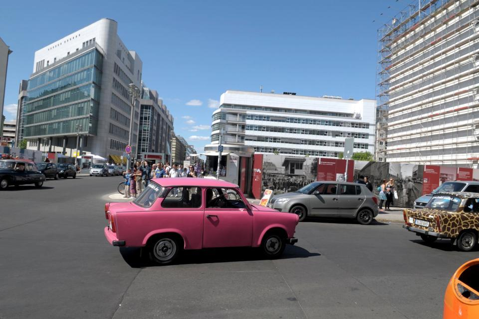 Un tour en Trabant , Driving around in a Trabant , Germany