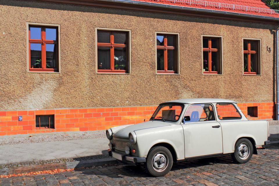 Un tour en Trabant , A police Trabant , Germany