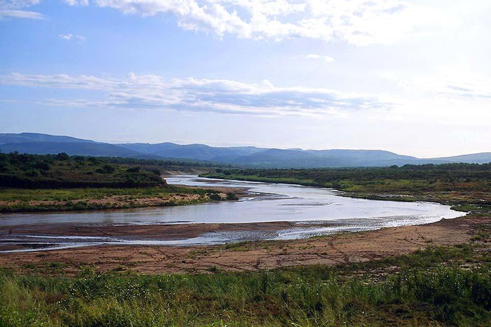 El Parque Nacional Kruger , Los ríos Hluhluwe y Umfolozi , Sudáfrica