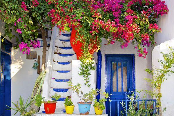 Axos in der Blütezeit, Les villages, Die Landschaften, Kreta