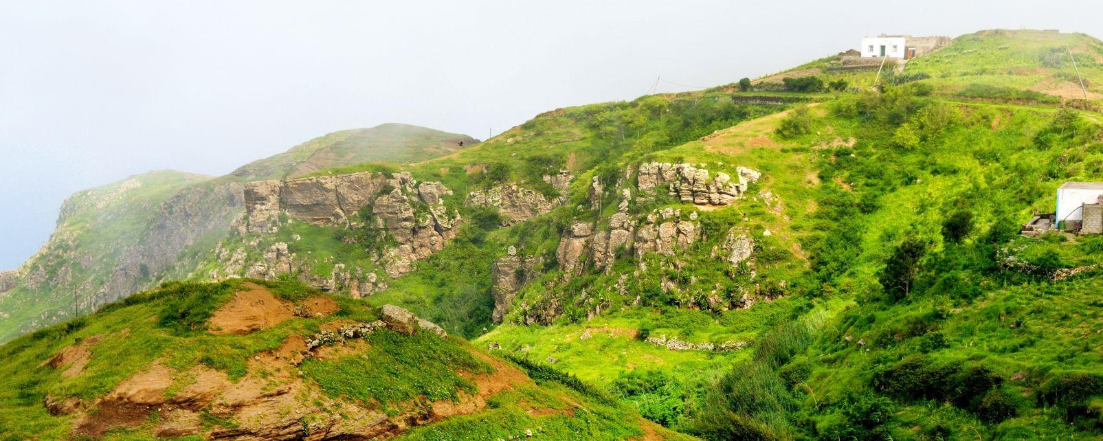 Les paysages, Brava, cap vert, afrique, atlantique, île, océan