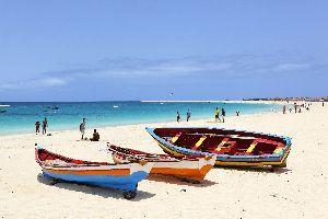 Le spiagge di Sal , Distesa di sabbia sull'isola di Sal , Capo Verde