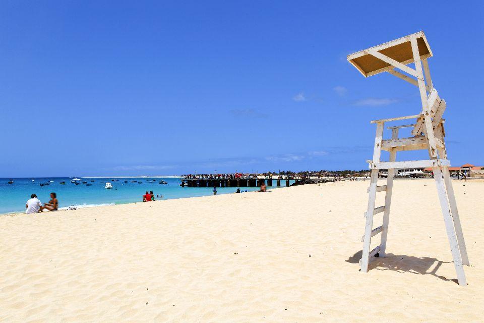Die Strände von Sal , Praia Santa Maria , Kap Verde