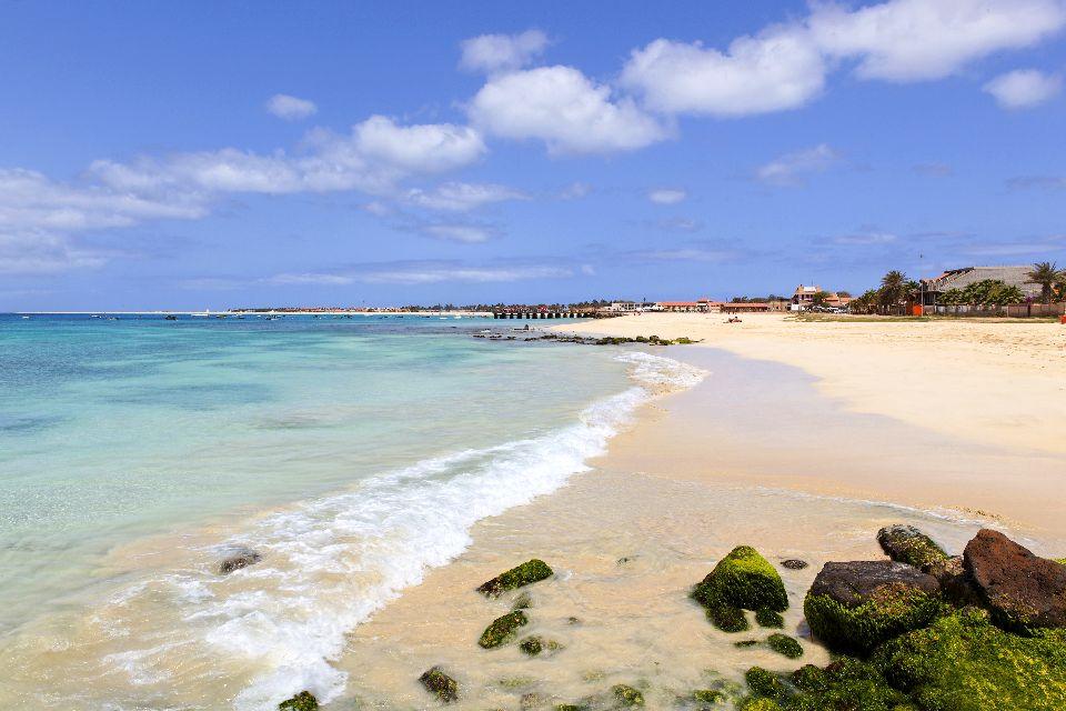 Die Strände von Sal , Der Strand Santa Maria , Kap Verde