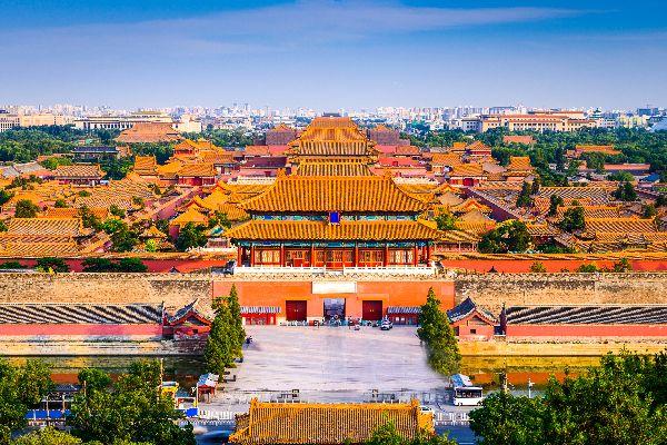 The Forbidden City in Beijing , The Forbidden City of Peking , China