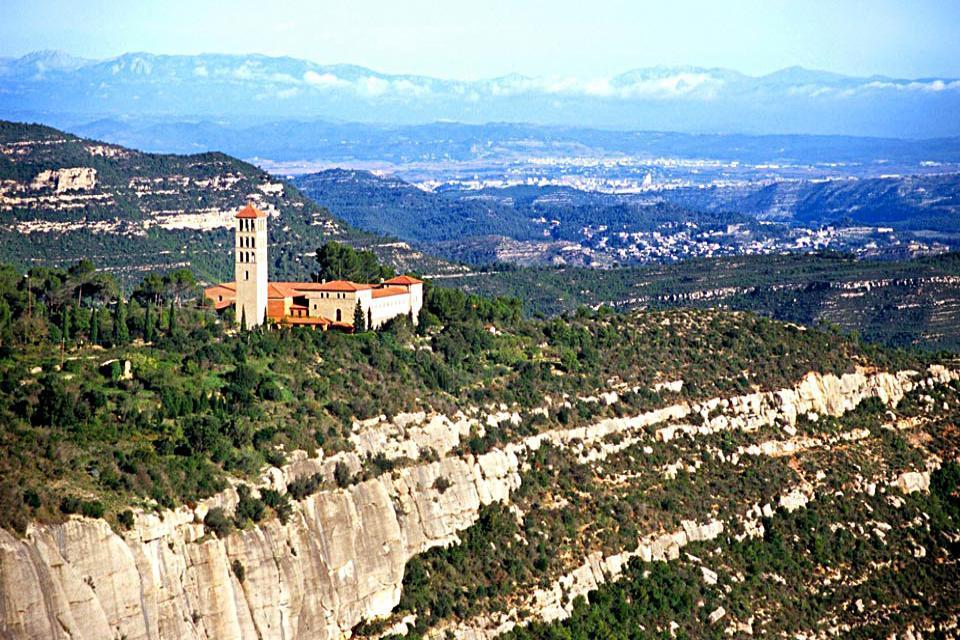 Le monastère de Món Sant Benet , Espagne