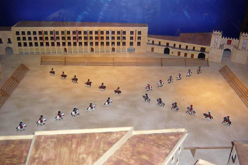 L'École royale andalouse d'art équestre , Maquette de la place El Arenal , Espagne
