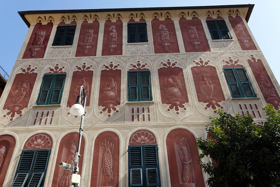 case liguri architettura dipinta liguria italia