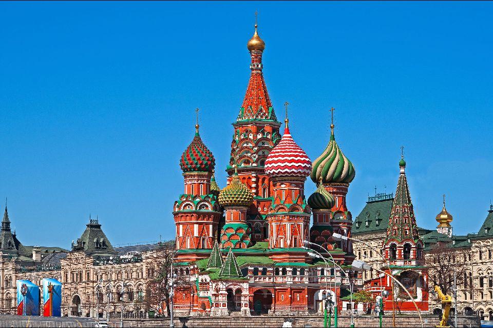 Die Basilius Kathedrale , Gegenüber dem Kreml , Russland