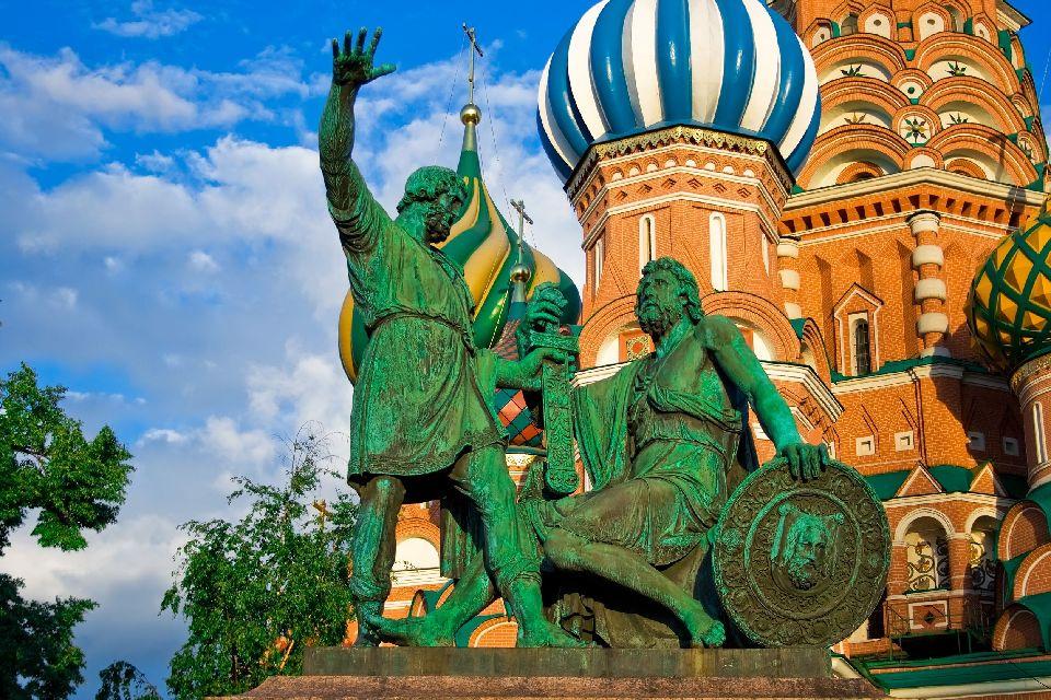 Die Basilius Kathedrale , Postkartenansicht von Moskau , Russland