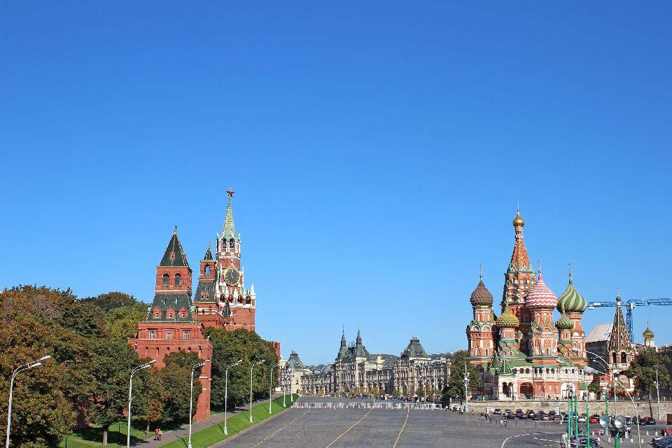 Die Basilius Kathedrale , Der Mittelpunkt des Roten Platzes , Russland