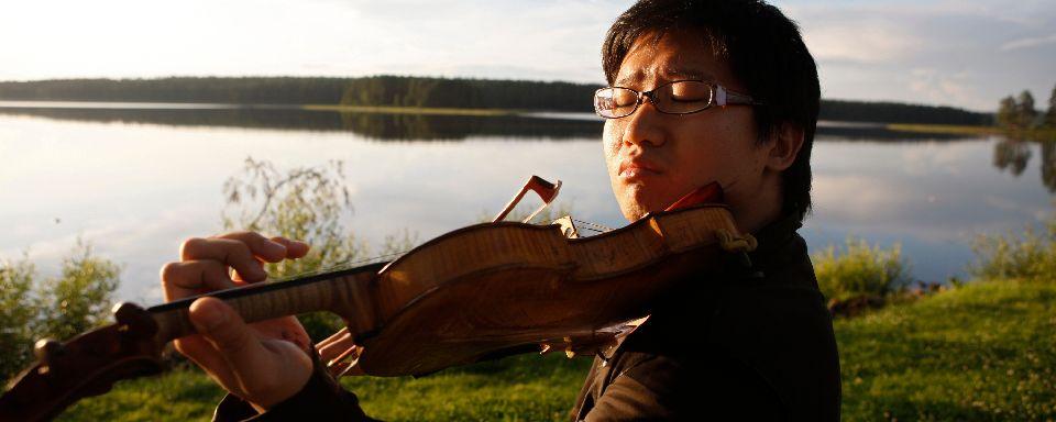 Un musicien au festival de Kuhmo