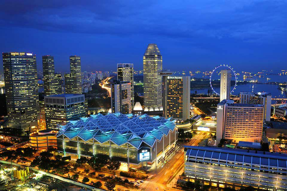 La skyline de Singapour , Singapour