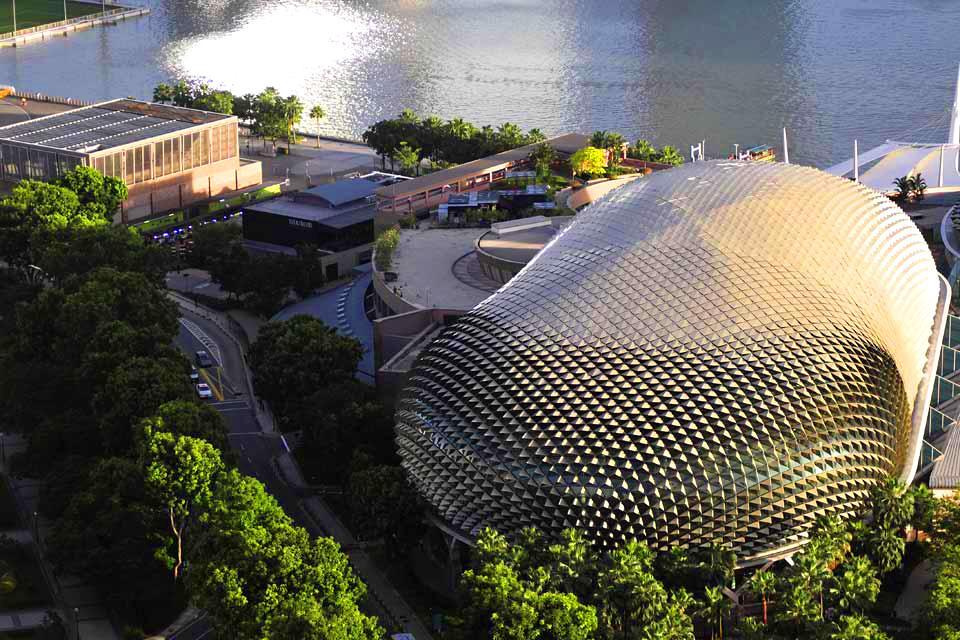 La skyline de Singapour , L'opéra de Singapour , Singapour
