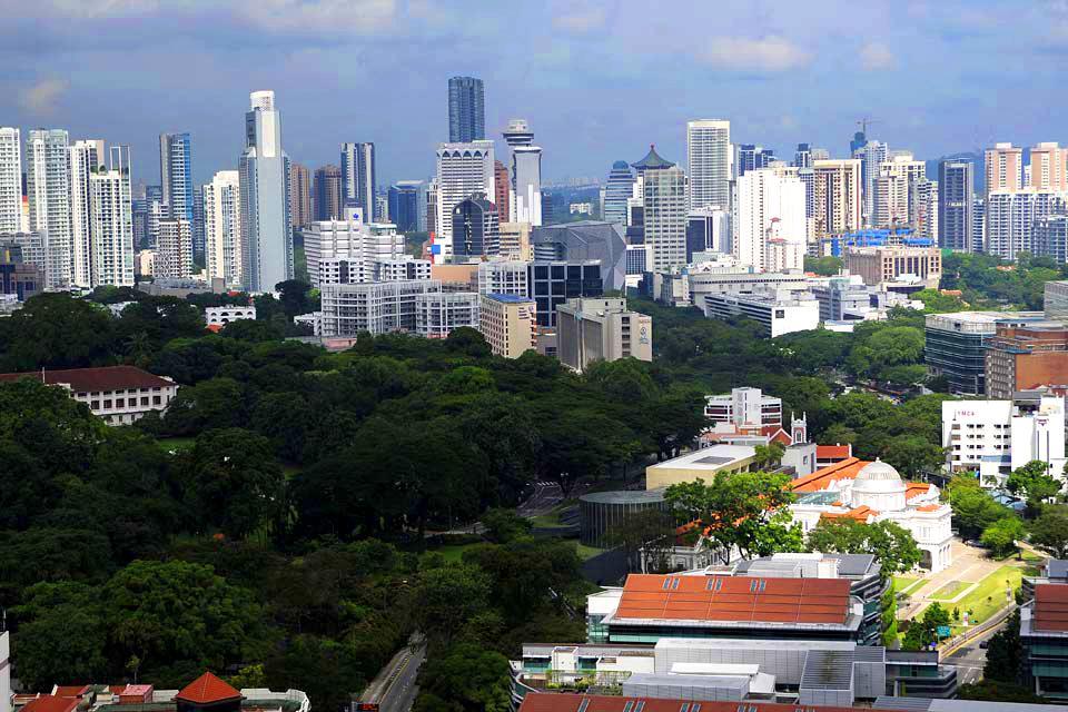 La skyline de Singapour , Contraste entre tradition et modernité , Singapour