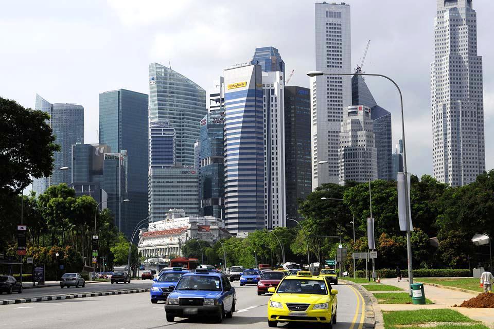 La skyline de Singapour , Une forêt de gratte ciel , Singapour