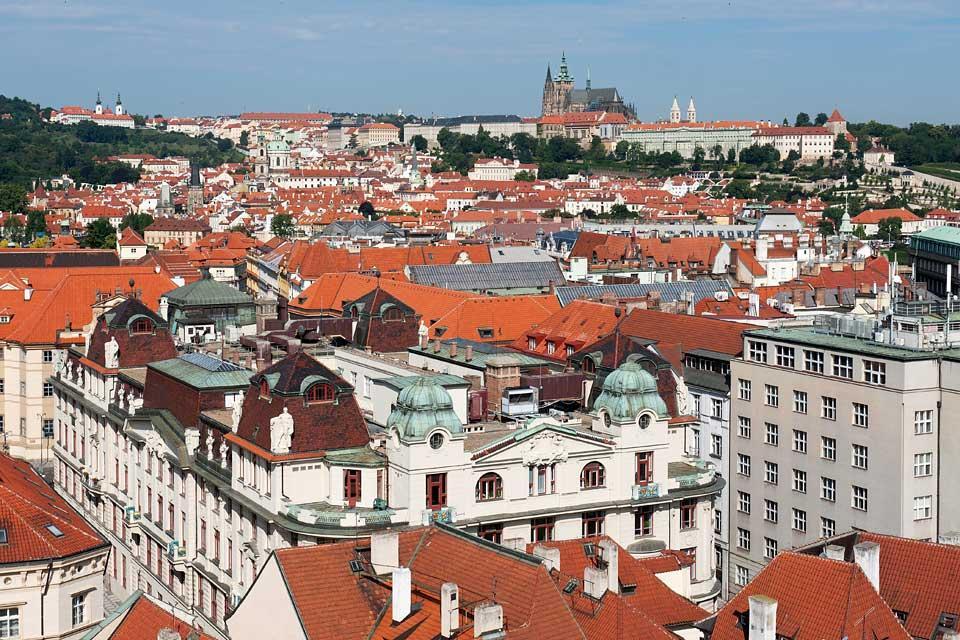 Tour de l'Hôtel de ville et Horloge astronomique , Panorama sur Prague , République tchèque