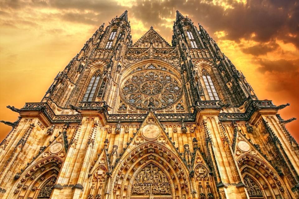 Le Château de Prague , La Cathédrale St Guy , République tchèque
