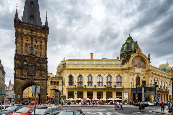 Les monuments, Prague, République Tchèque, Bohême, Europe, Tchéquie, art déco, sessession, art, maison municipale