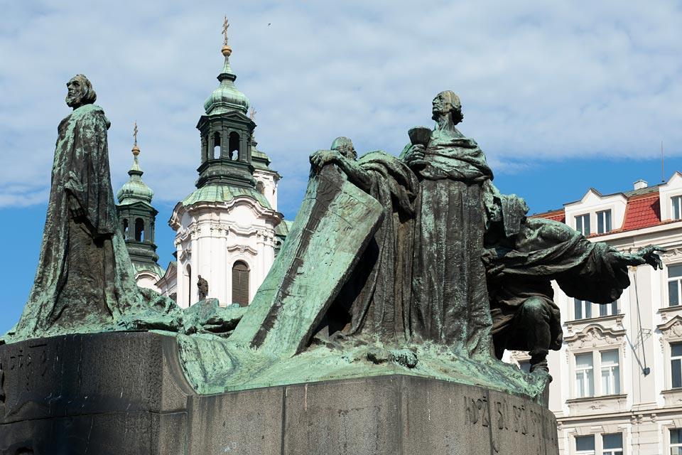 Place de la Vieille Ville , Hommage à Jan Hus , République tchèque
