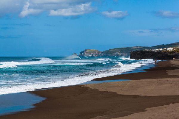 Las playas de São Miguel y de Faial , Portugal