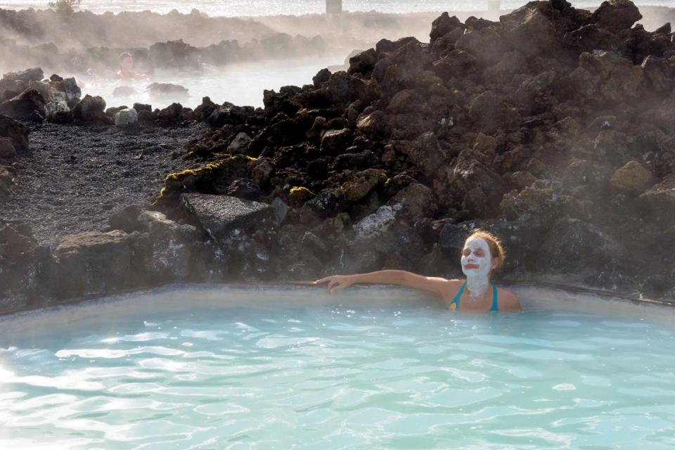 Le Blue Lagoon , Swimming in the Blue Lagoon, Iceland , Iceland