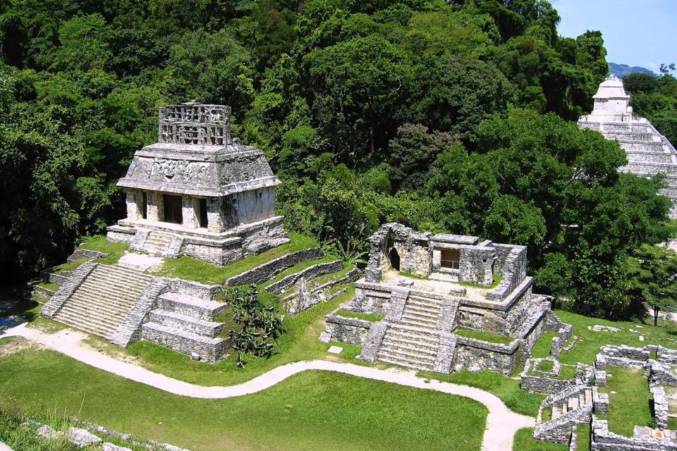 Le site archéologique maya de Palenque , Mexique