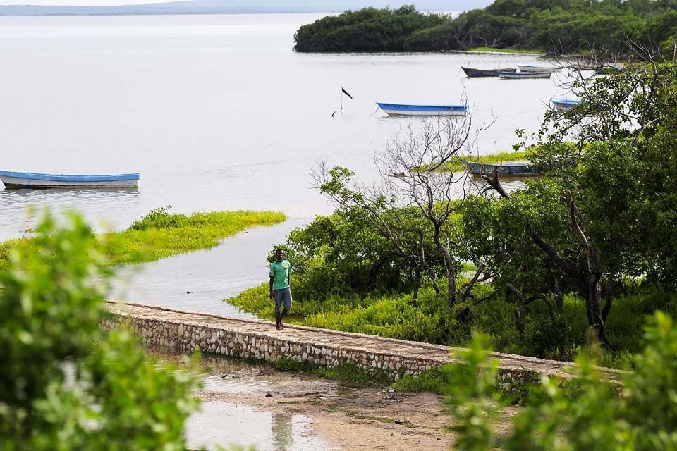 La lagune d'Oviedo , Paisajes espectaculares , República Dominicana